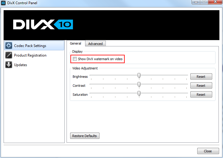 How do I disable the DivX logo watermark? \u2013 DivX